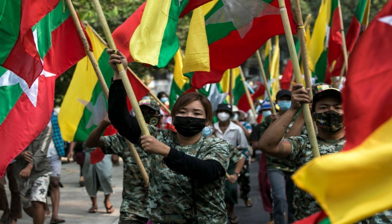 Myanmar coup: Neighborhood groups block night arrests